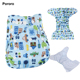 PORORO Manufacture Double Row Cloth Diaper PUL Reusable Fabric Diaper