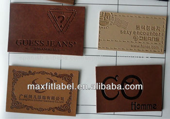 High Quality Patches For Leather Sofa, Debossed PU/genuine Leather  Label,wholesale Leather