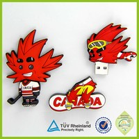 OEM cartoon GB eco-friendly silicon material made silicone usb custom