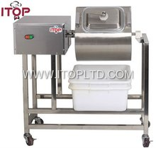 with 4 sliding wheels meat salting machine equipment