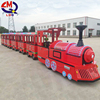 low price Children christmas game diesel trackless train