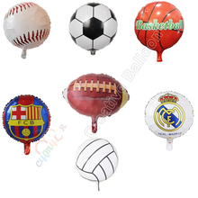 CYmyalr helium air sports soccer party balloons foil mylar football basketball volleyball rugby baseball balloons