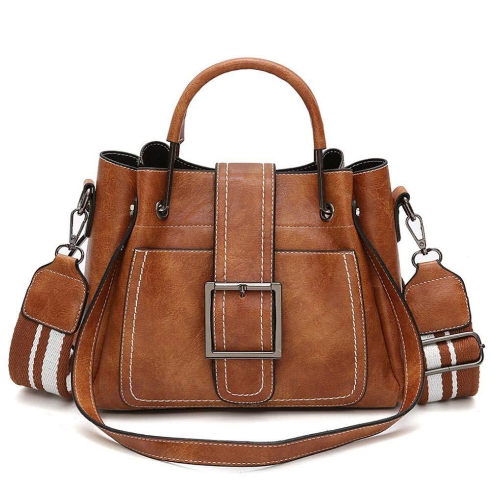 Outsta Retro Leather Shoulder Bags,Women's Corssbody Bag&Handbag Waterproof Travel Back Pack Stylish Basic Casual Daypack (Brown)