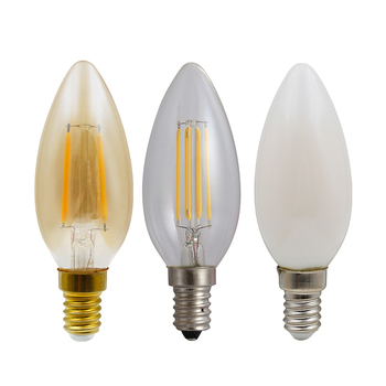 High Quality 4W C35 E27 Vintage led filament candle bulb, Led Filament Light,led bulb filament lamp