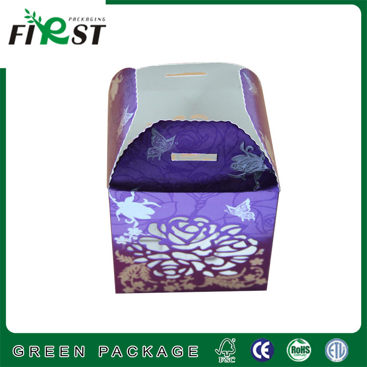 Lovely small candy sweets packaging flower box with ribbon