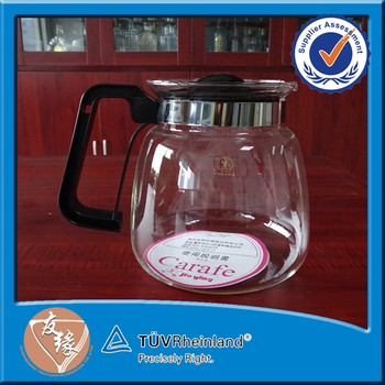 Heat resistant borosilicate glass coffe pot 1800ml cheap wholesale glass teapots