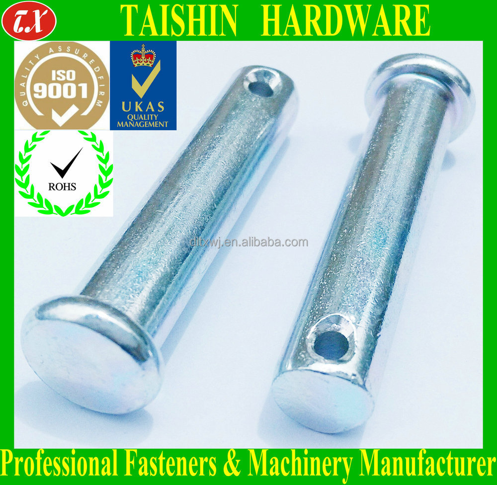 Carbon Steel Flat Head Round Straight Push Pins With Hole