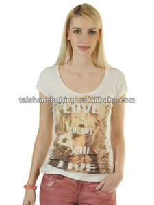 Ladies' T-shirts OEM service offered