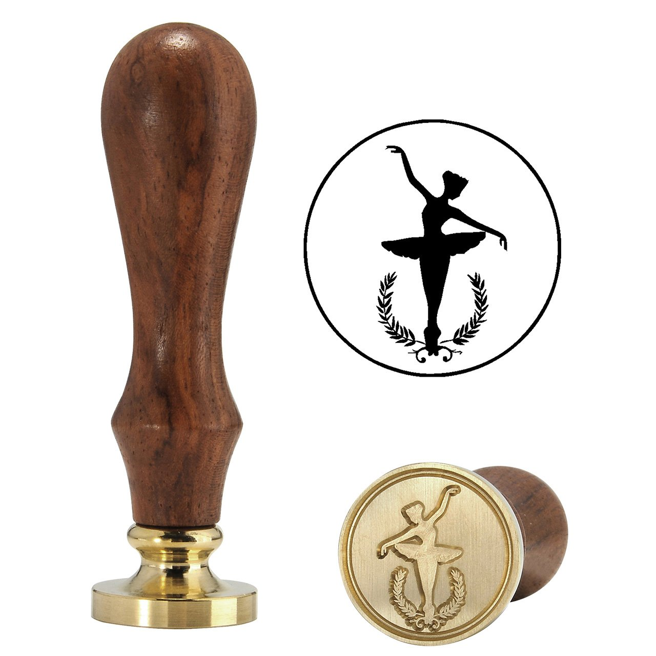 Elegant Ballet Dancer Wax Stamp, Yoption Vintage Retro Elegant Ballet Dancer Wax Stamp, Great for Embellishment of Cards Envelopes, Invitations, Wine Packages,Ideal Gift (Ballet Dancer #1)