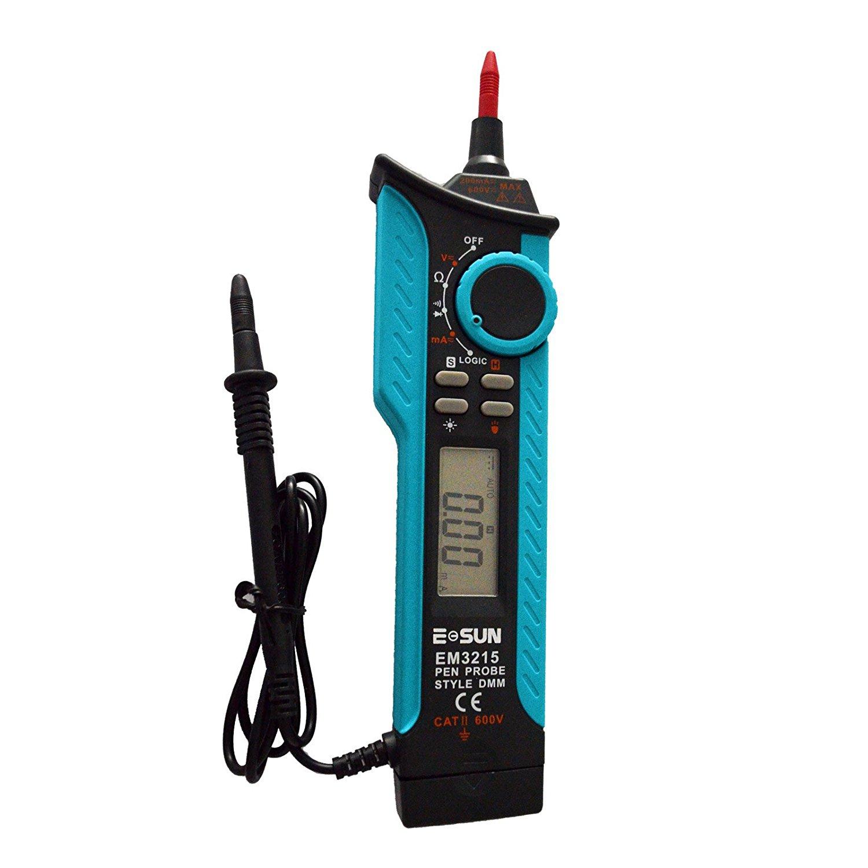 all-sun Portable Pen Type Digital Multimeter Logic Probe AC DC Volt Amp Tester DMM