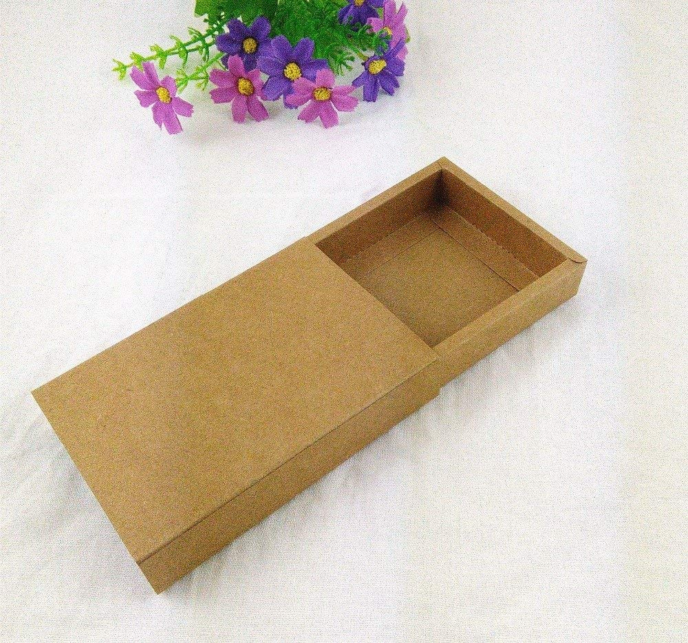 Lavenz 24PCS/Lot Gift box Jewelry box Retail Kraft Paper Drawer Box Gift Kraft Power Bank Packaging Cardboard Boxes