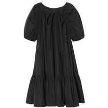 Женское платье с коротким рукавом EAM, платье большого размера с драпировкой и круглым вырезом, весна-лето 2020(Китай)