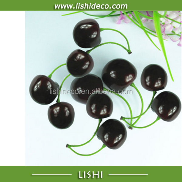 Artificial fruit fake foam plastic cherry for decoration