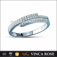 Latest silver 925 finger ring designs plated with platinum or gold