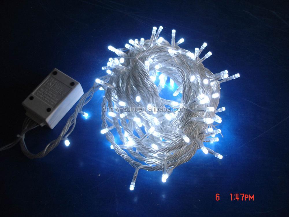 Led Christmas Tree Light 8function Lightchain 100led 10m Green ...