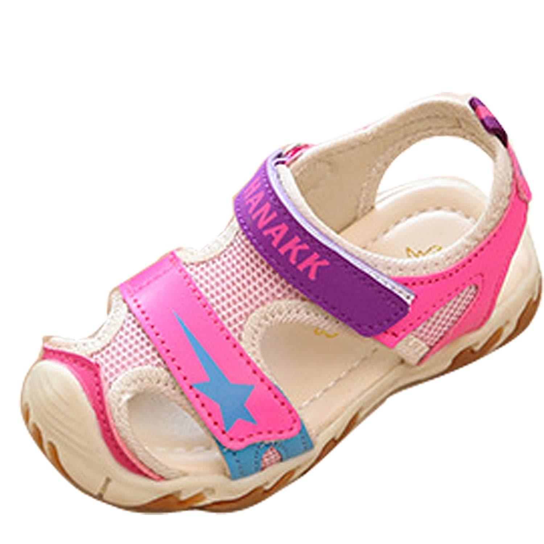 Gaorui Kids Baby Boy Girls Closed Toe Sport Sandals Soft Sole Antiskid Beach Flat Shoes