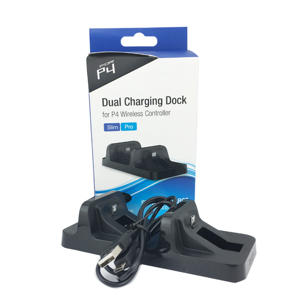 Dual USB Mini Charging Dock Stand Charger Station For PS4 Slim/Pro Wireless Gamepad Controller