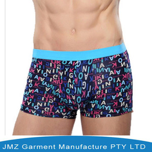 Woven Label Bamboo/Cotton Mens Boxer Shorts Knitted Underpants
