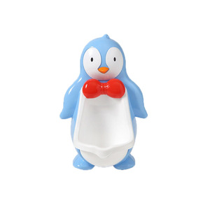 a7e90164a77 Kids Portable Toilet Urinal Cartoon Baby Boys Penguin Stand Vertical Toilet  Potty Training Children Wall Hanging
