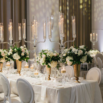 Wholesale crystal candelabra 5 candle wedding centerpieces with wholesale crystal candelabra 5 candle wedding centerpieces with glass tube aloadofball Image collections