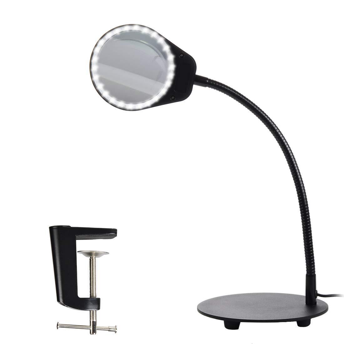 Black Normande Lighting GP3-219 13-1//2-Inch 13-Watt Daylight-Spectrum Desk Lamp