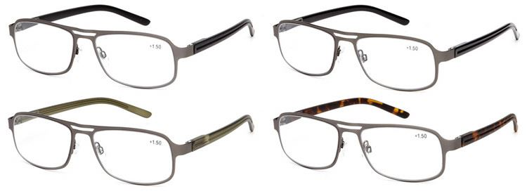 Modern style superior quality half rimless reading glasses with different size