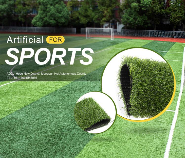 Populaire synthetische kunstgras nep gras tapijt voor voetbal