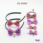 Newest Fashion hair band blink bowknot hair accessories for kids
