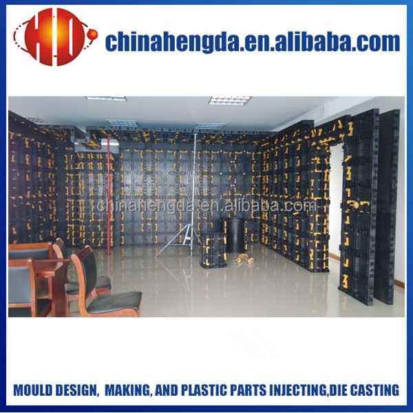 plastic concrete wall formworks, reusable plastic formwork for concrete, concrete wall forming system