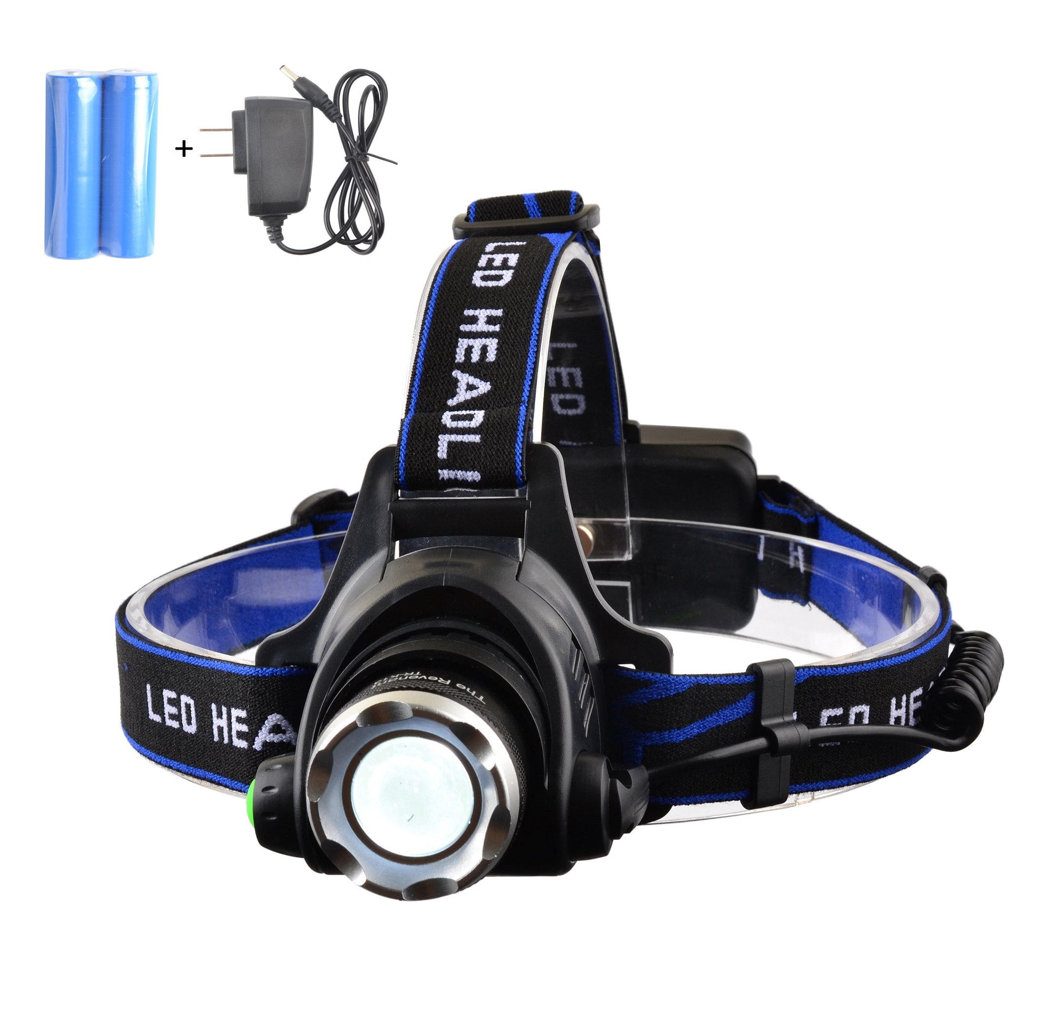 The Revenant 3 Modes Super Bright CREE T6 LED Headlamp with Rechargeable Batteries, Waterproof & Lightweight Camping Outdoor Sports Headlight