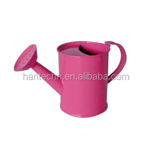 hot sales Cheap Garden Plant Flower Colourful painted Metal Steel Watering Can with Rose
