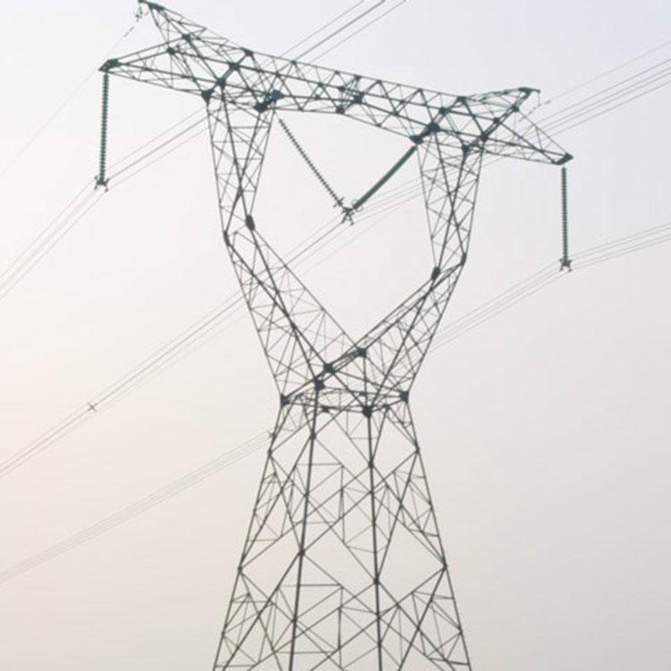 132kV high voltage Power transmission line steel tower