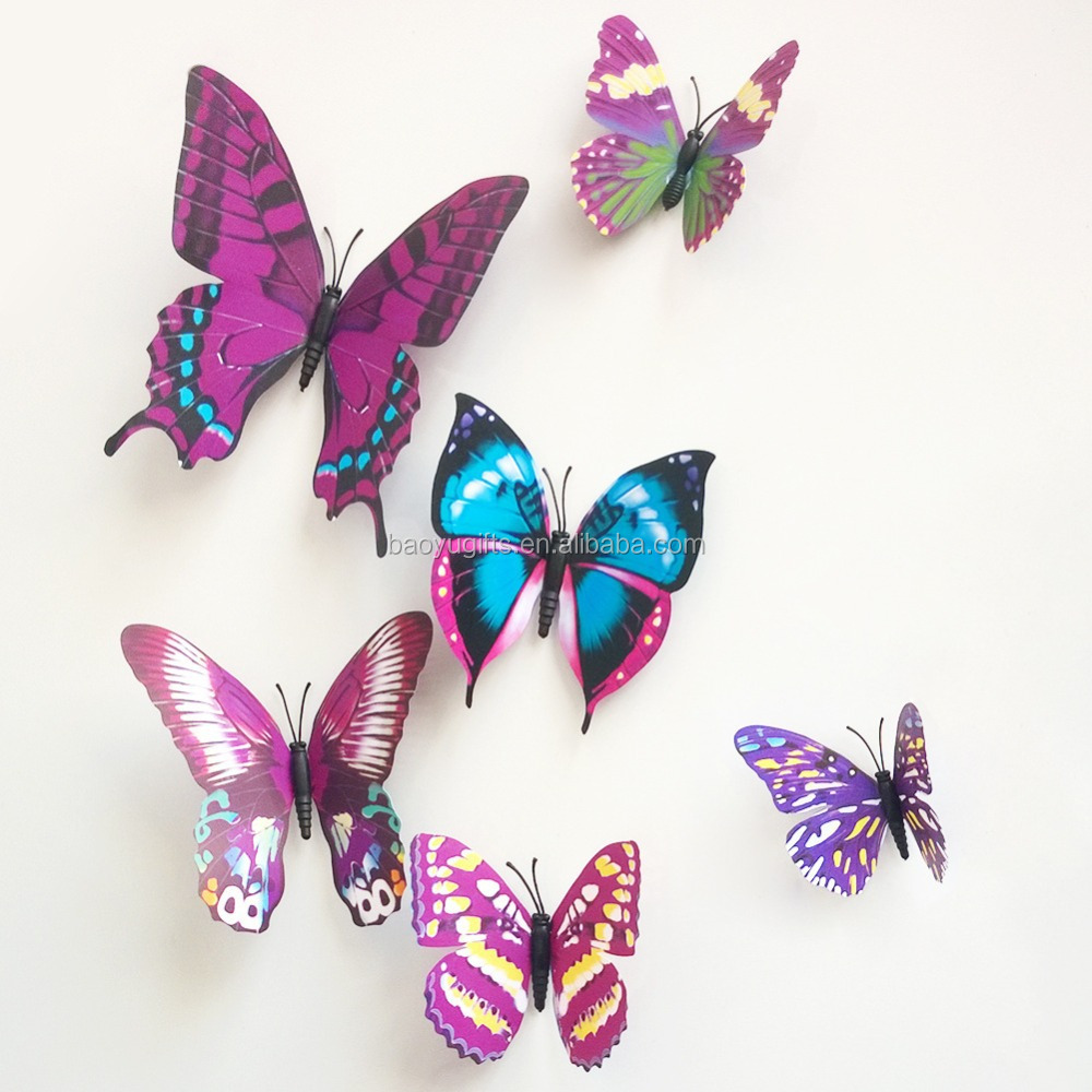 DIY Decoration 3d Wall Stickers, Butterfly Cut Out Pattern Removable Home  Wallpaper Part 68