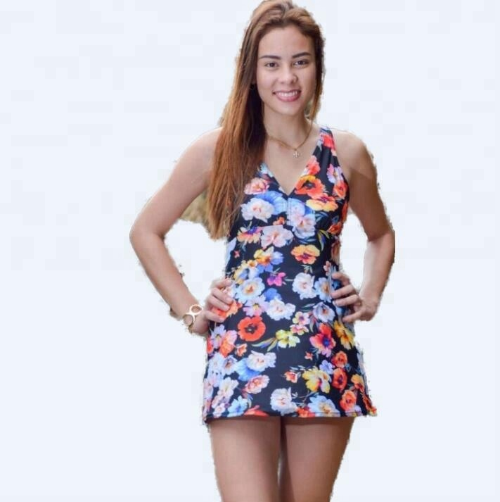 Low MOQ , wholesale <strong>swimwear</strong> <strong>woman</strong> one piece printed swimsuit plus size skirt <strong>swimwear</strong>