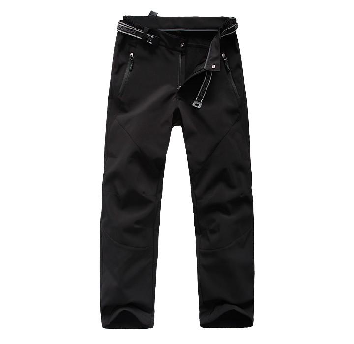 Windproof waterproof climbing softshell pants for men
