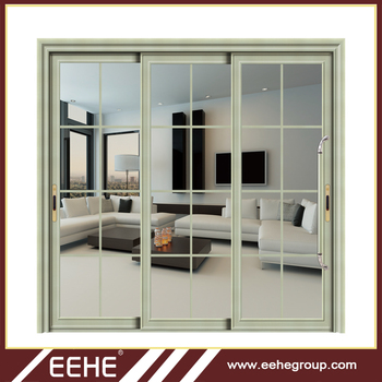 Aluminum Insulated Sliding Glass Door Soundproof Interior Sliding