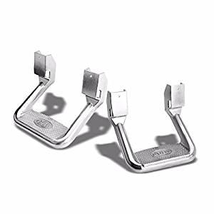 2x Bully AS-600 Chrome Universal Aluminum Side Step Mount Bar for Truck/SUV/Pickup