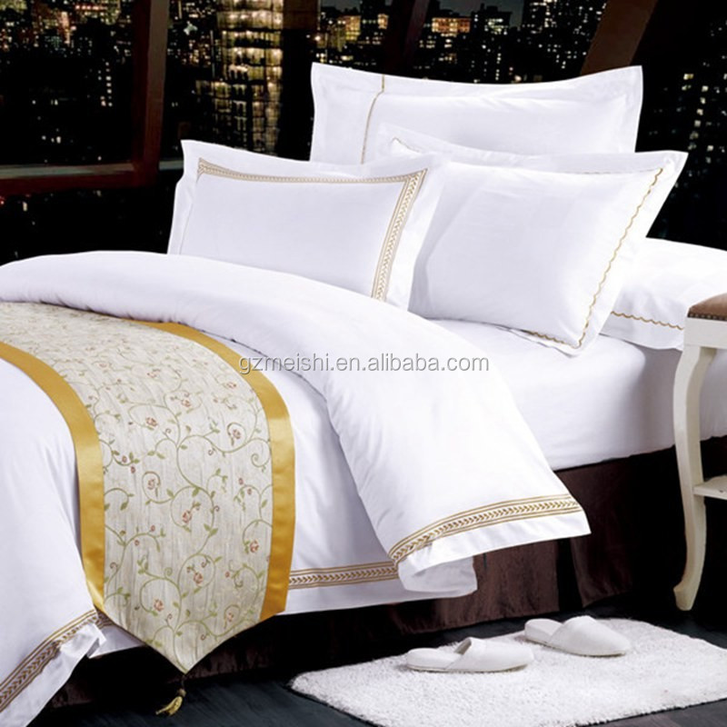 New luxury bedding set hotel bedding set quilt cover duvet for Luxury hotel 750 collection sheets