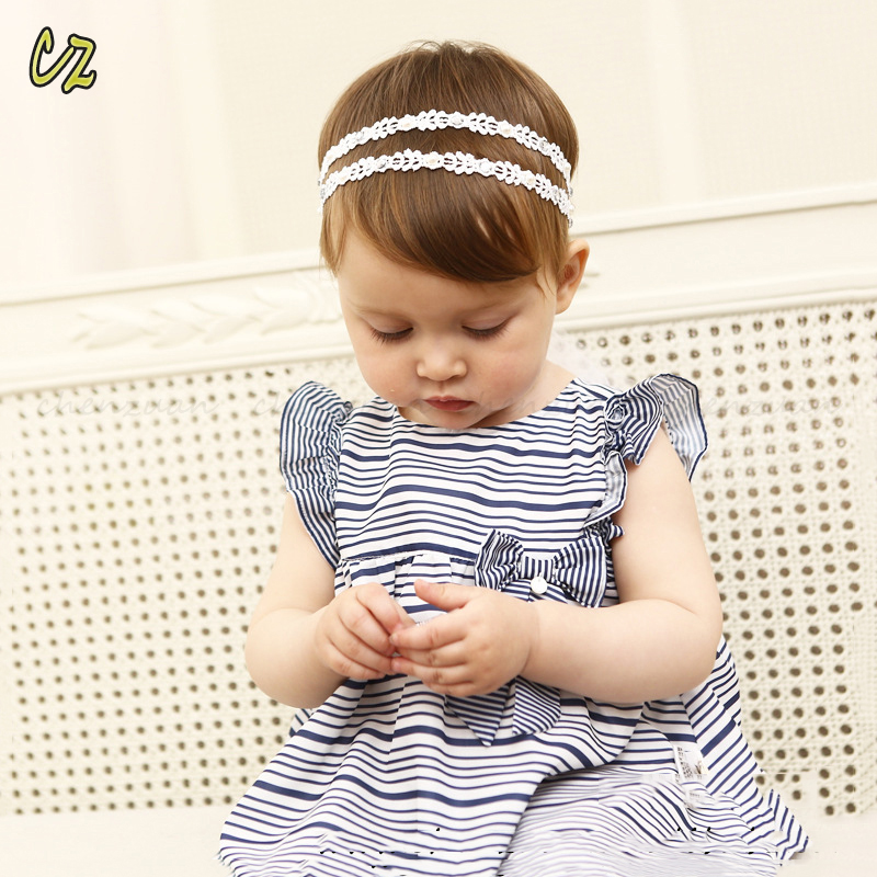 Cheap wholesale korean style fancy knitted cotton stretch baby headband 5e4d74874ec