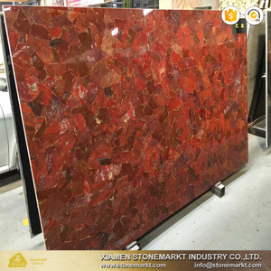 StoneMarkt Natural Red Semiprecious stone large agate slab