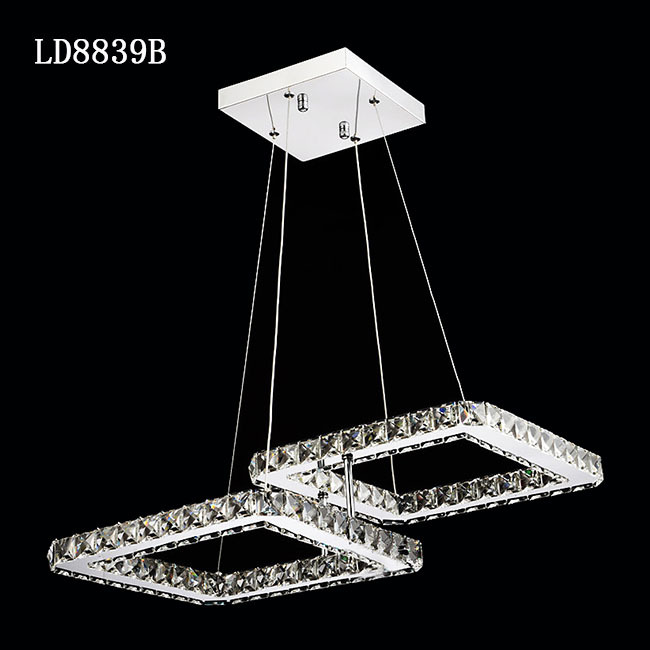 Wholesale Factory Outlet Crystal chandelier lighting modern square ...