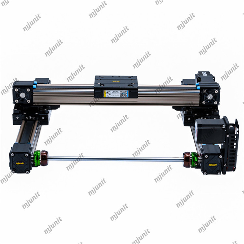 mjunit gantry XY axis toothed belt linear guide slide module actuator for automatic painting machine spraying manipulator