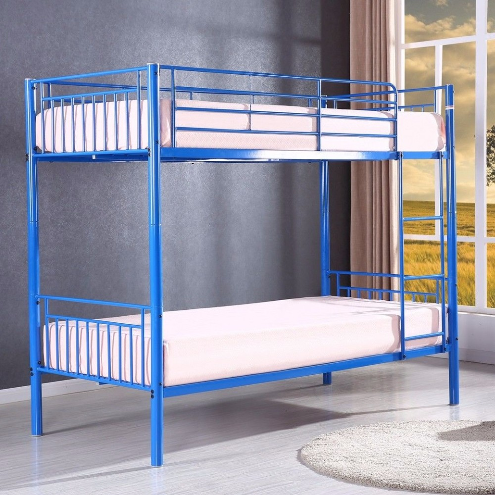 Online sale latest metal bed design metal bunk bed from for Cheap metal bunk beds