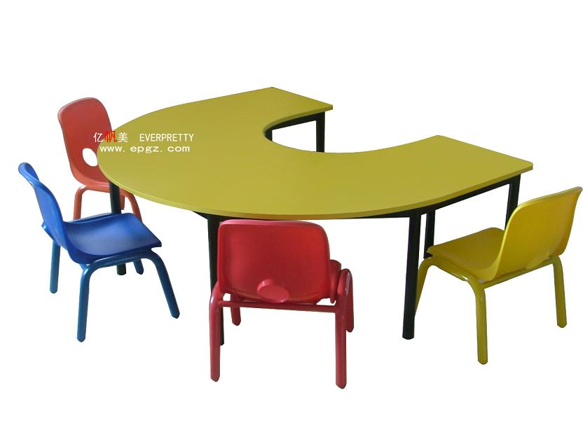 garderie d 39 enfants en forme de u table et chaise en plastique pour la maternelle de meubles. Black Bedroom Furniture Sets. Home Design Ideas
