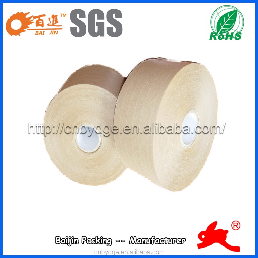 fiber reinforced gummed packing adhesive tape