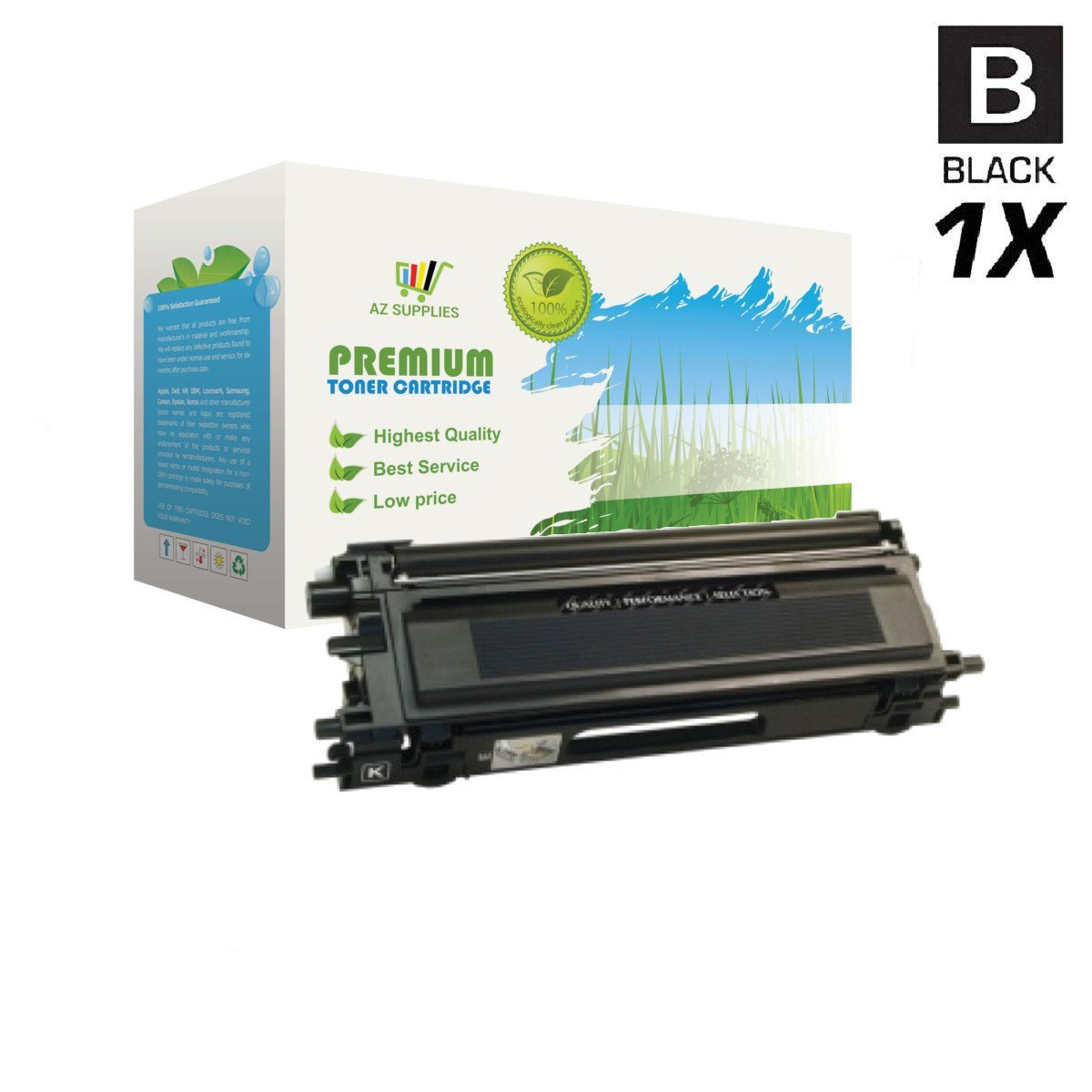AZ Supplies Re-Manufactured Replacement TN115K High Yield Black Toner Cartridge for Brother DCP-9040CN, DCP-9045CDN, HL-4040CDN, HL-4040CN, HL-4070CDW, MFC-9440CN, MFC-9450CDN, MFC-9840CDW