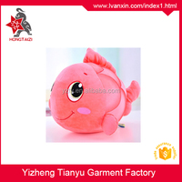 Cute Clown Customized Fish Plush Stuffed Animal Toy