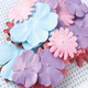 Assorted Colored Paper Craft Flowers Mini Paper Flower Petals for Decoration