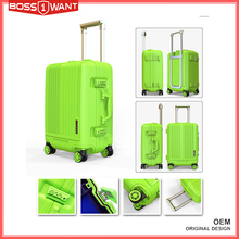 New Style Hard Shell PP Material Business Travel Luggage Suitcase with 2pcs per set