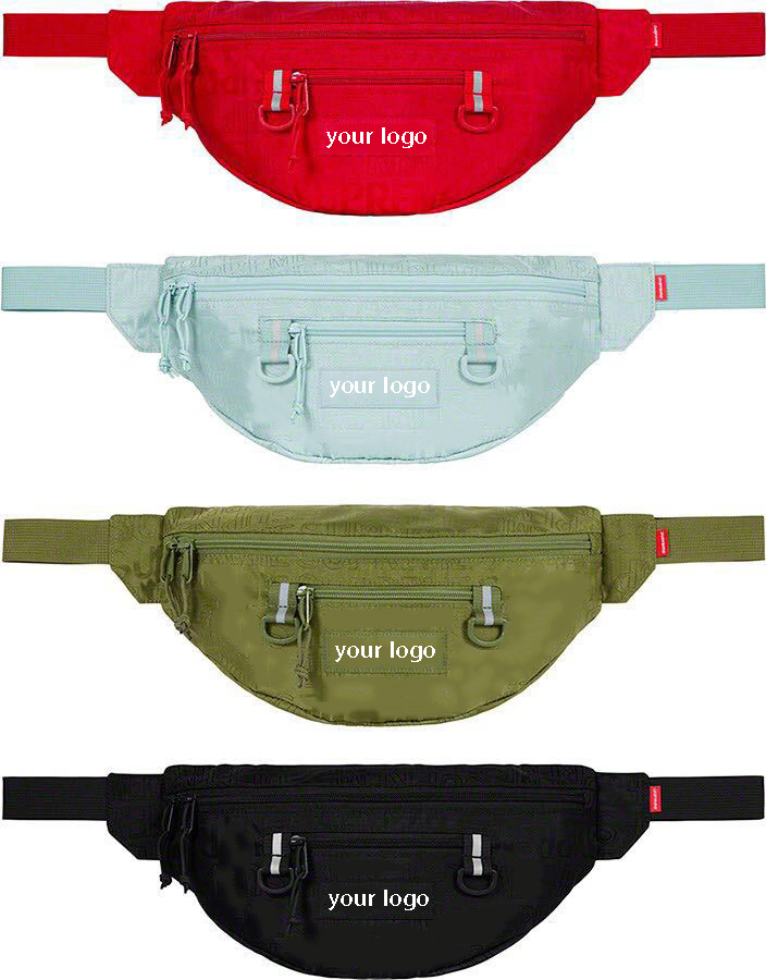 2019 New Styles Fashion Famous New York Street Tide design brand Letter Outdoor running canvas Waterproof bum waist bag hip hop